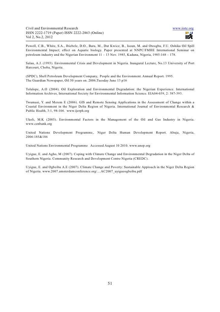 term paper on niger delta crisis