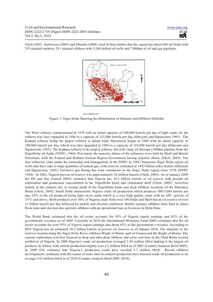 oil spillage in nigeria pdf