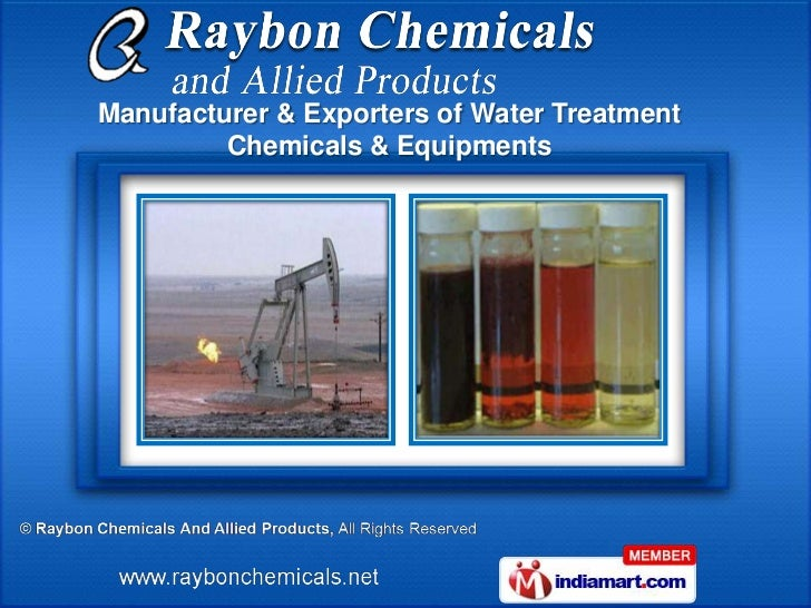 Manufacturer & Exporters of Water Treatment         Chemicals & Equipments