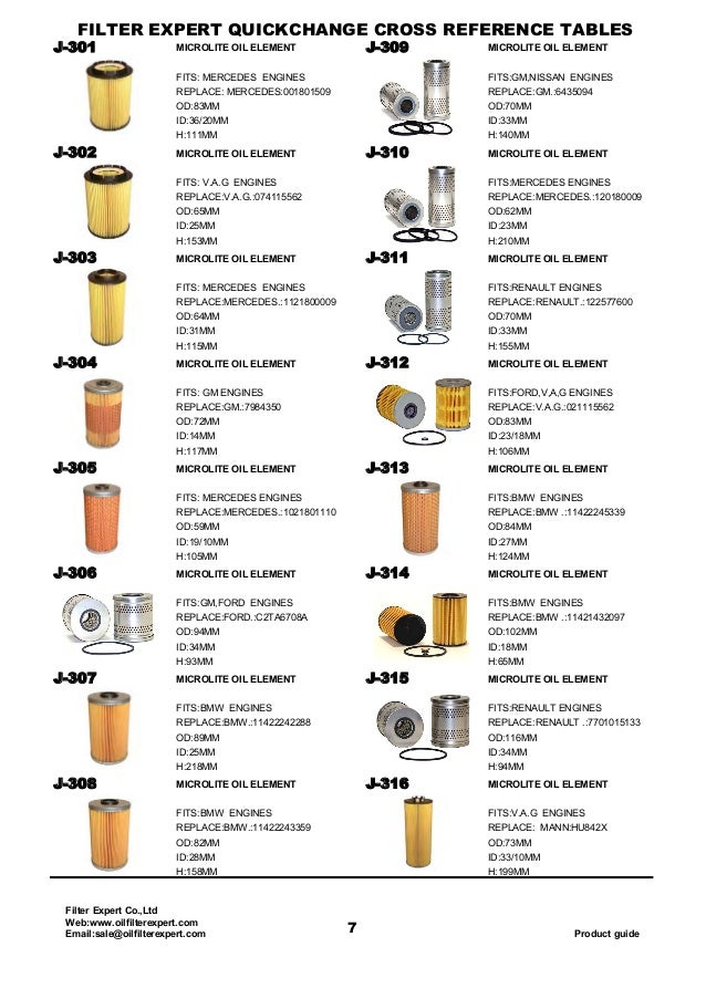 Oil Filter Catalog From Filter Expert,China Filter Manufacture And Su…