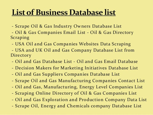 Gas Companies In Ga >> Oil Gas Companies Email List Oil Gas Directory Scraping