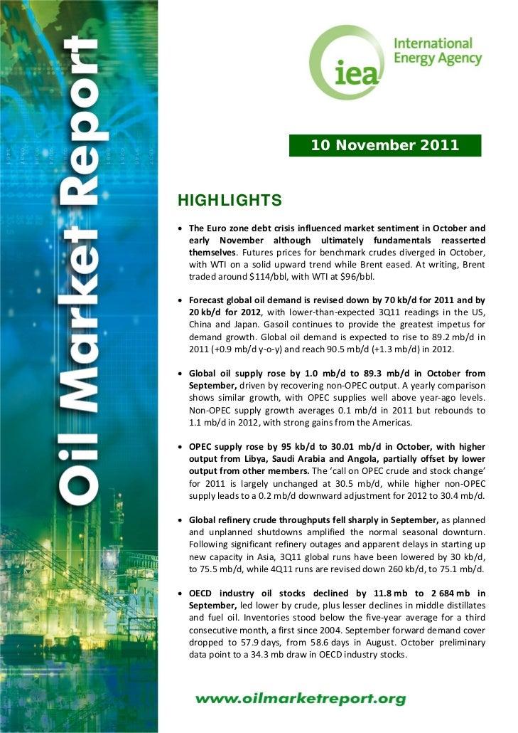 10 November 2011HIGHLIGHTS• TheEurozonedebtcrisisinfluencedmarketsentimentinOctoberand  early November altho...