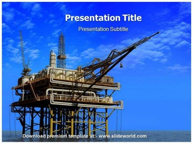 Oil mining powerpoint template toneelgroepblik Images