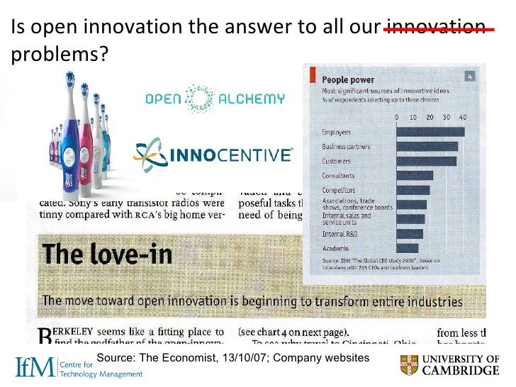 What does 'open innovation' mean for the Cambridge high