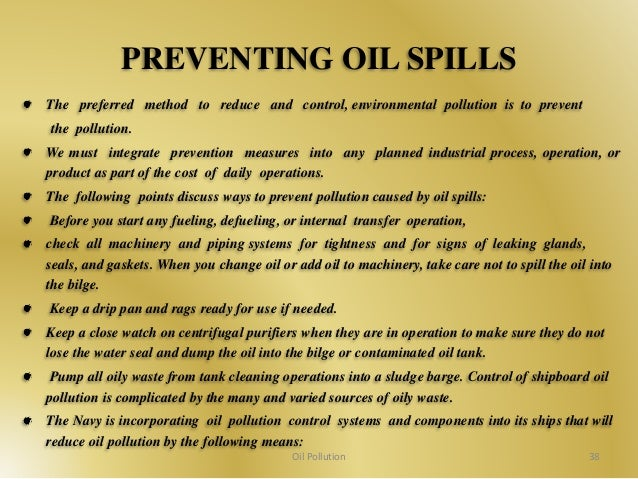 Oil Spill Prevention and Response