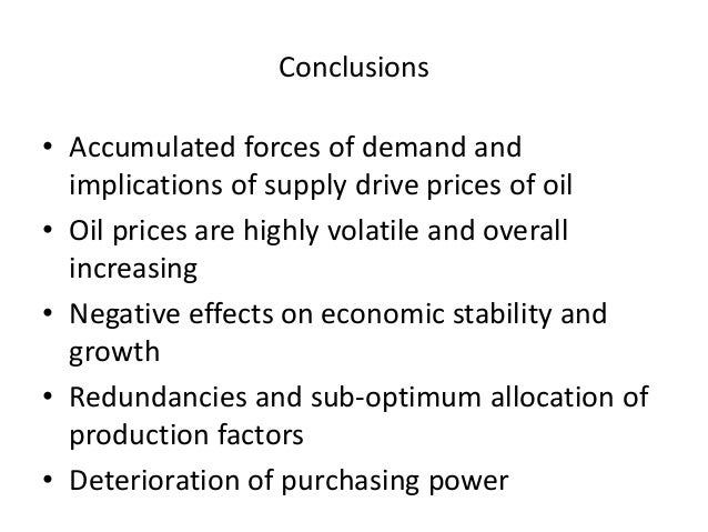the impact of rising oil prices What drives crude oil prices january 9, 2018 economic growth has a strong impact on oil consumption 5 sources: us energy information administration, i hs global insight rising oil prices held down global oil consumption growth from.