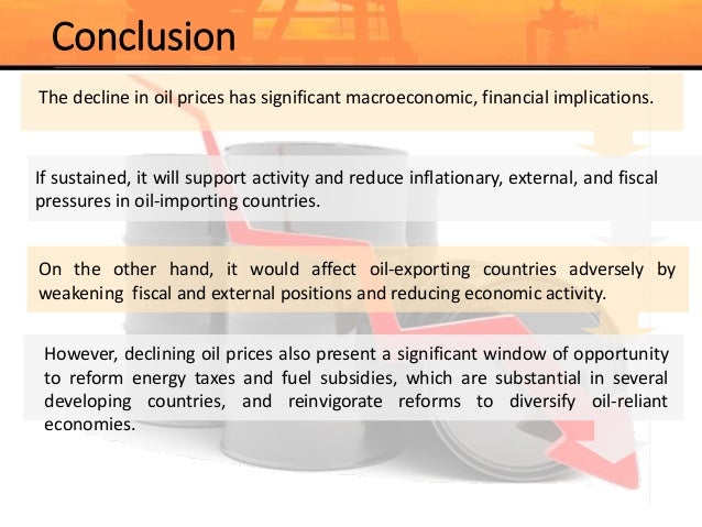 oil prices and their impact on the economy Oil producers have certainly felt the impact of the lower prices on their growth rates,  iran's economy is not solely dependent on oil exports.