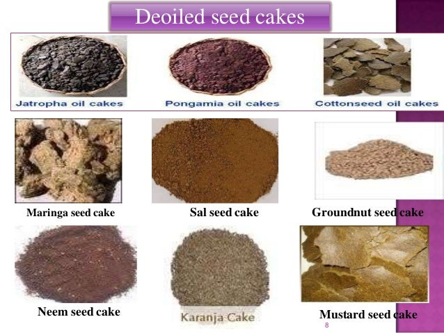 Oilseed cake and organic farming