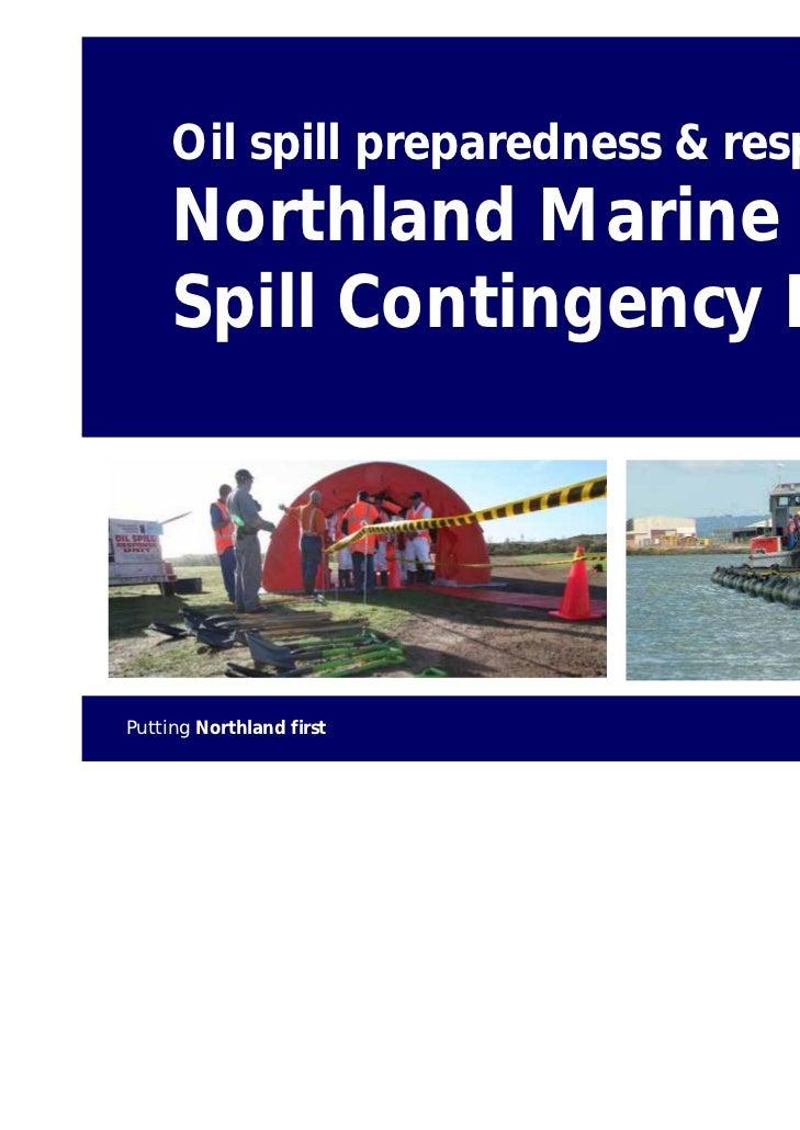 Oil spill preparedness & response:     Northland Marine Oil     Spill Contingency Plan                                    ...