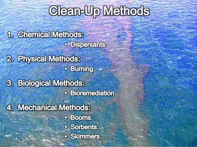 Oil spills & Cleaning
