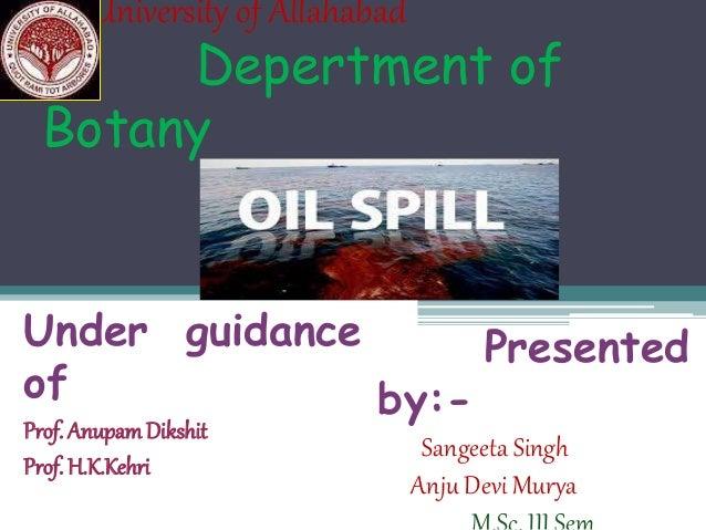 University of Allahabad Depertment of Botany Under guidance of Prof. AnupamDikshit Prof. H.K.Kehri Presented by:- Sangeeta...