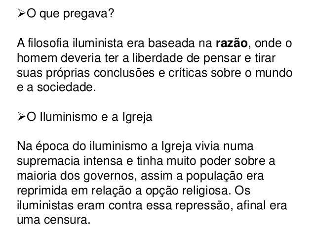 O iluminismo(Resumo) Slide 3