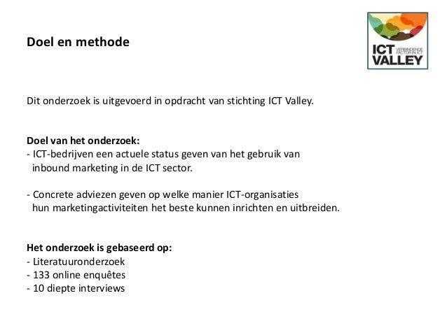 Onderzoek Inbound Marketing in de ICT Slide 3