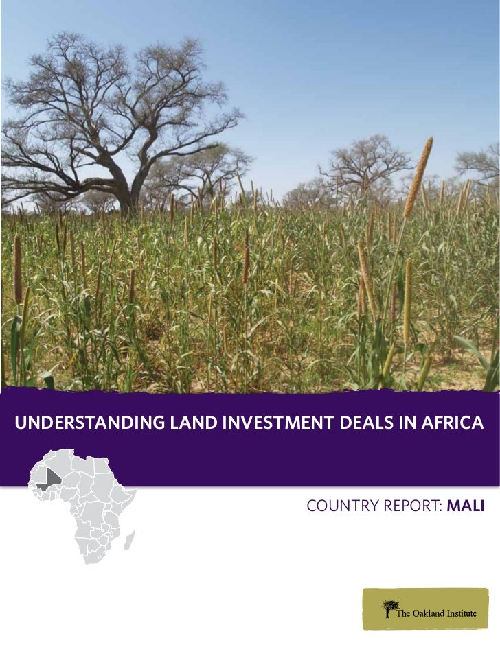 Understanding Land investment deaLs in africa                           Country report: maLi