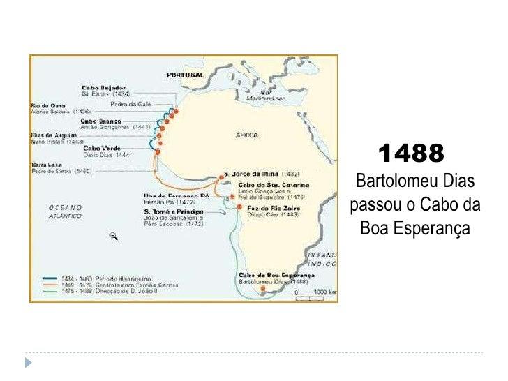 1488  Bartolomeu Dias passou o Cabo da Boa Esperança