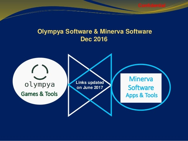 Minerva Software Olympya Software & Minerva Software Dec 2016 Confidential Games & Tools Apps & Tools Links updated on Jun...