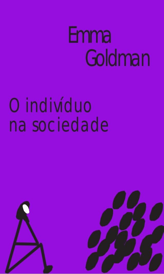Emma Goldman O indivíduo na sociedade