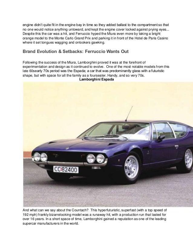 Lamborghiniology A History Of Lamborghini