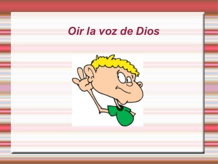 Oir la voz de Dios