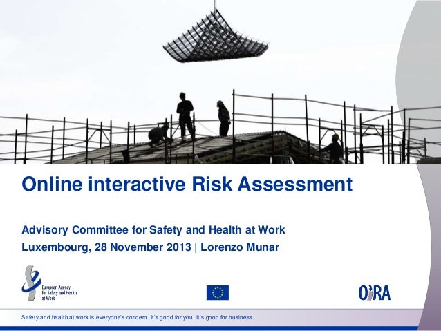 Online interactive Risk Assessment Advisory Committee for Safety and Health at Work Luxembourg, 28 November 2013 | Lorenzo...