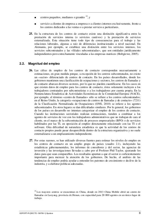 OIT - Las relaciones de trabajo en los servicios de telecomunicacione…