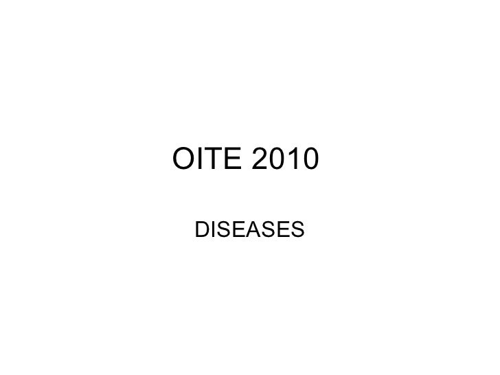OITE 2010 DISEASES