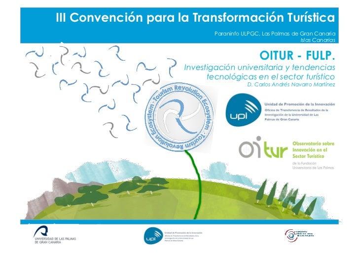 Título Píldora o Taller        III Convención para la Transformación Turística                                     Paranin...
