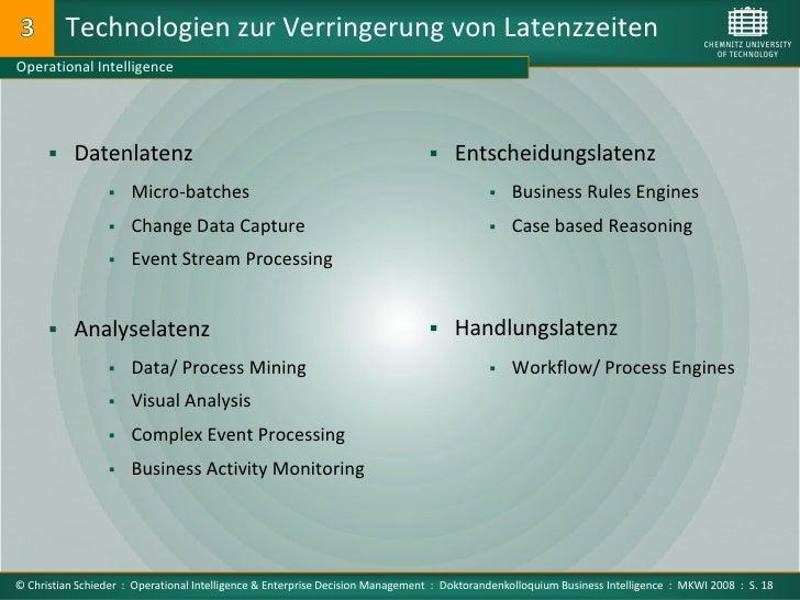 Technologien zur Verringerung von Latenzzeiten Operational Intelligence            Datenlatenz                           ...