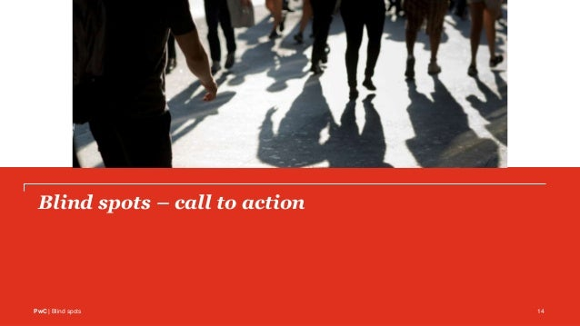 PwC | Blind spots 14 Blind spots – call to action