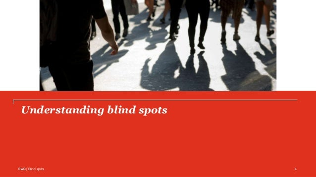 PwC | Blind spots Understanding blind spots 4