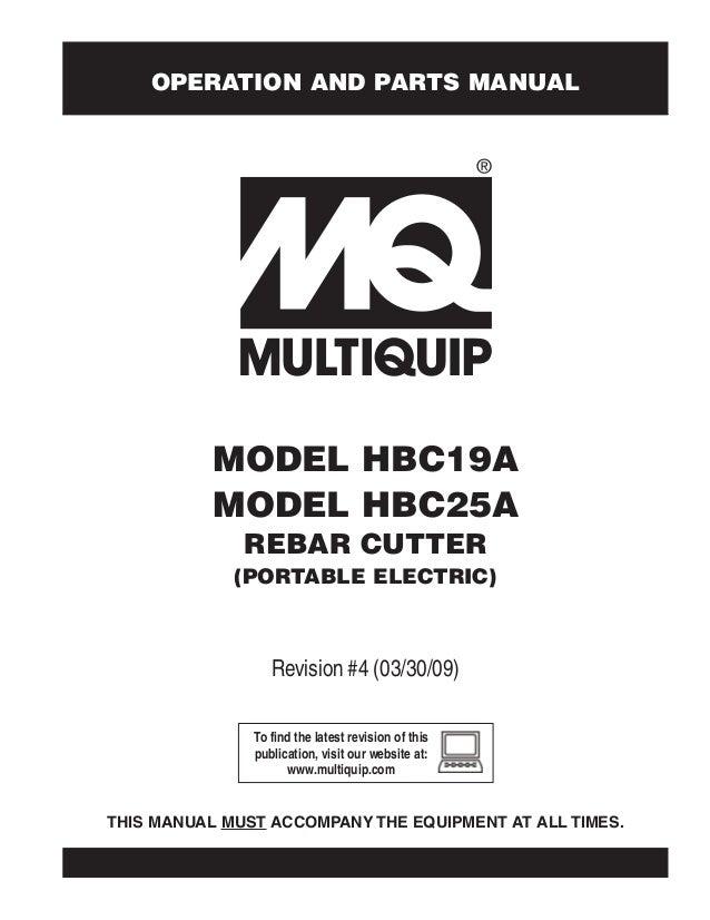 Multiquip Rebar Cutters
