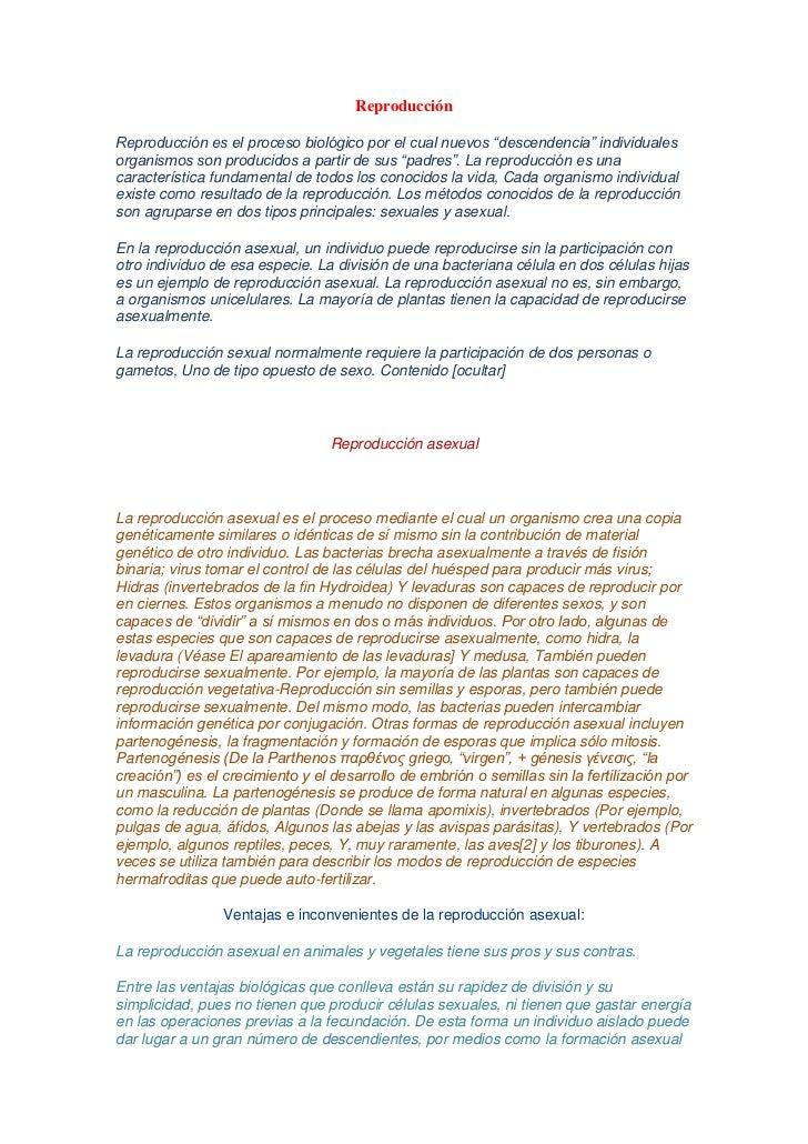 """ReproducciónReproducción es el proceso biológico por el cual nuevos """"descendencia"""" individualesorganismos son producidos a..."""
