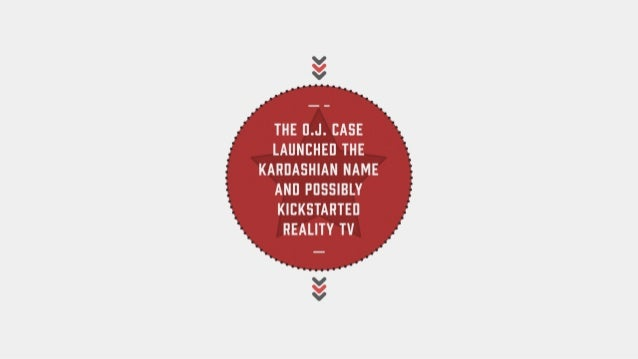 The O.J. case launched the Kardashian name and possibly kickstarted reality TV.