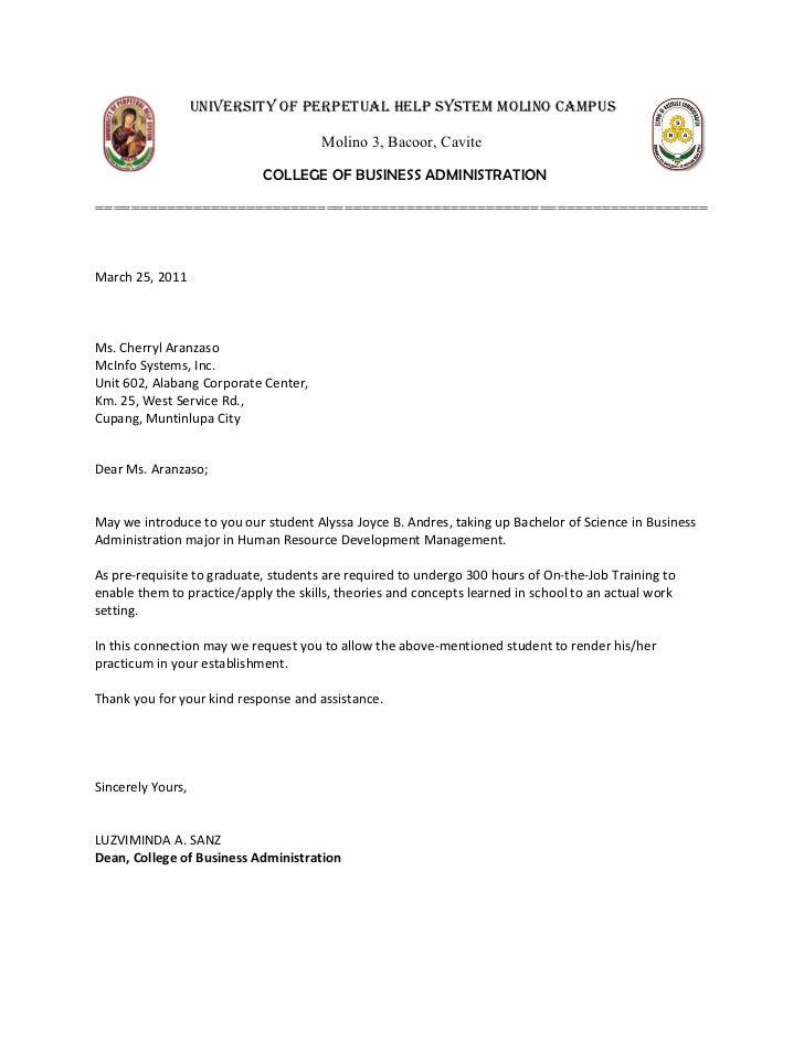 application letter for hrdm