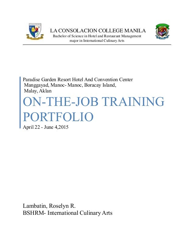 ojt diary for information technology