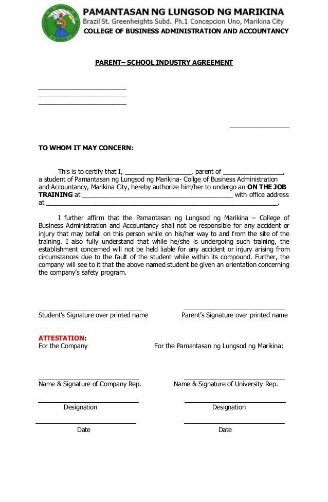 Sample OJT Training Certificate