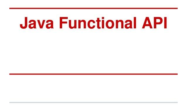 Java Functional API
