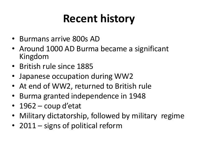 Short history of myanmar