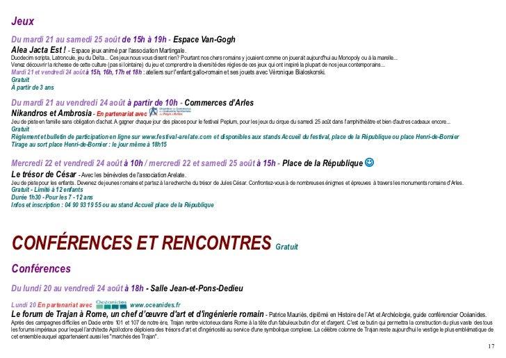 rencontres arles 2012 programme