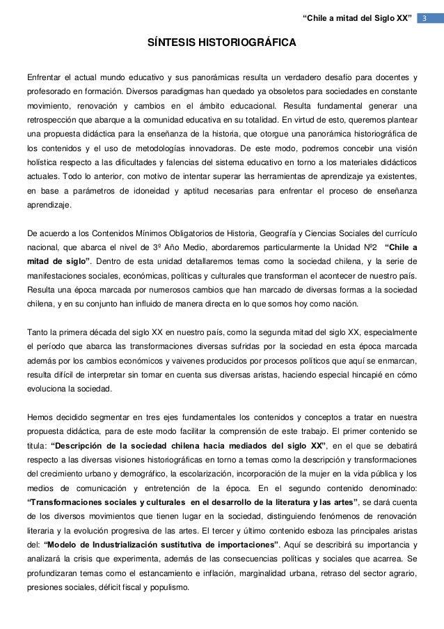 """""""Chile a mitad del Siglo XX""""       3                                  SÍNTESIS HISTORIOGRÁFICAEnfrentar el actual mundo ed..."""