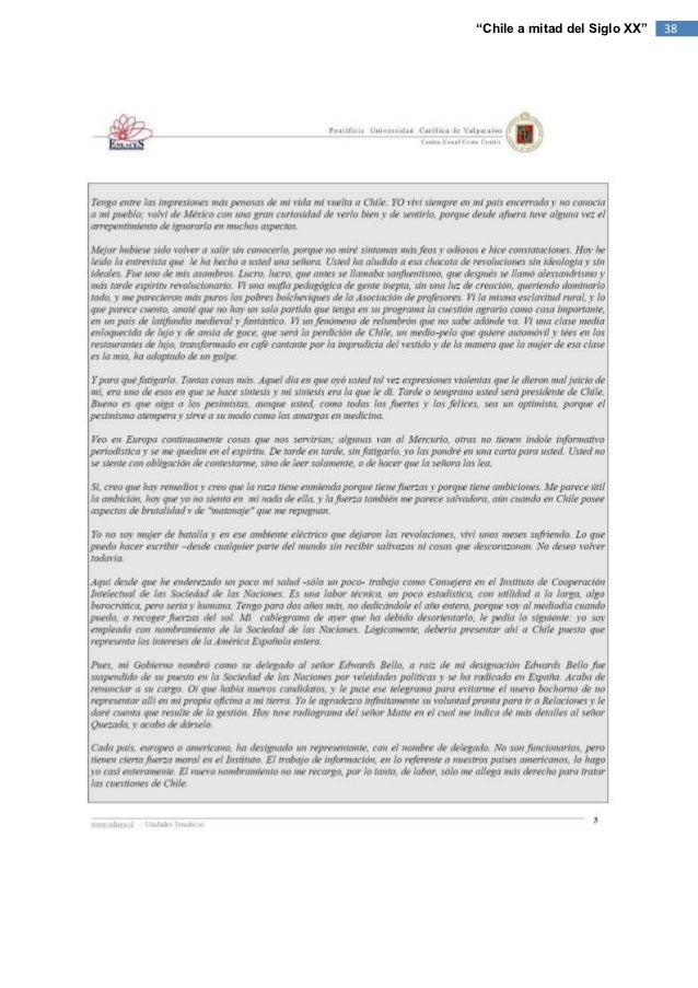 """""""Chile a mitad del Siglo XX""""   38"""