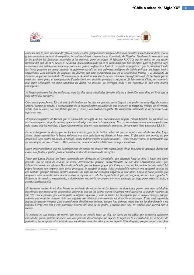 """""""Chile a mitad del Siglo XX""""   40"""