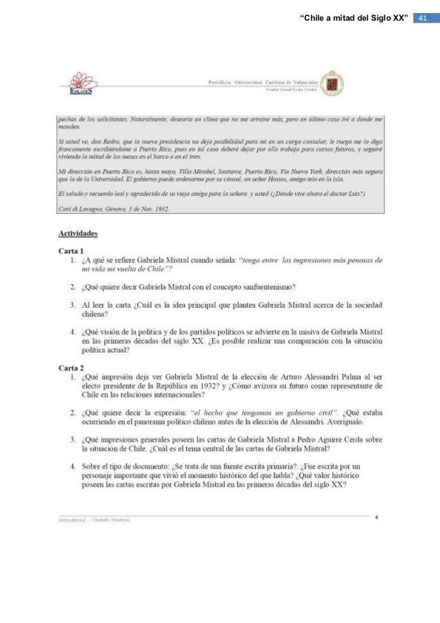 """""""Chile a mitad del Siglo XX""""   41"""