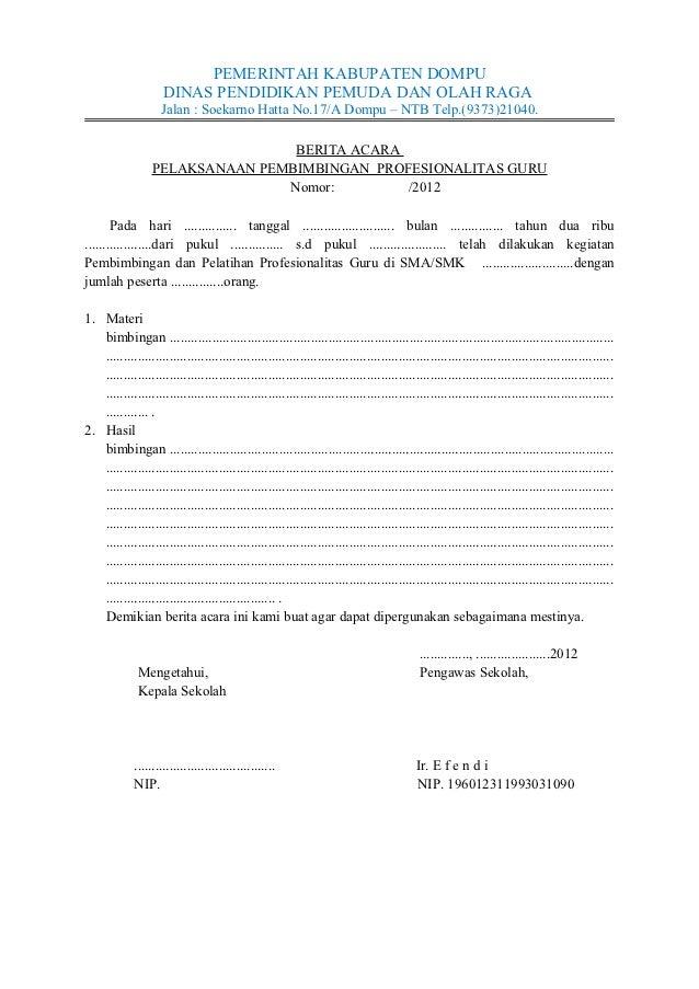 Contoh Berita Acara Ujian Nasional Sd Download Gambar Online