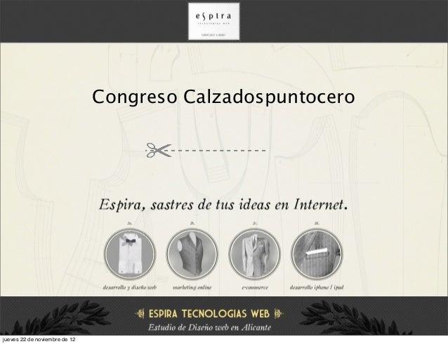 Congreso Calzadospuntocerojueves 22 de noviembre de 12