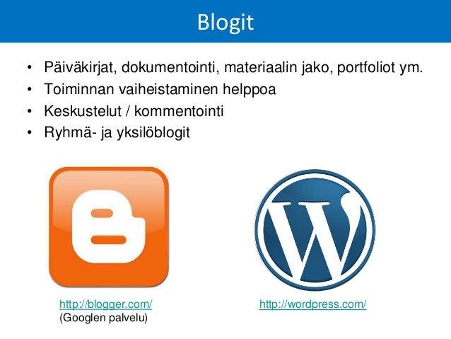 Vaiheistettu verkkokurssi blogin avulla: http://polamkin23asiaa.wordpress.com/