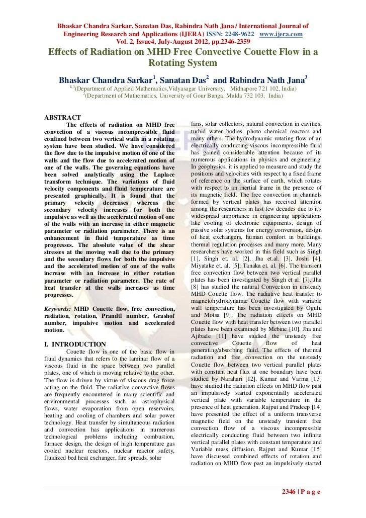 Bhaskar Chandra Sarkar, Sanatan Das, Rabindra Nath Jana / International Journal of      Engineering Research and Applicati...