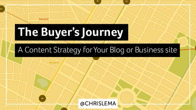 B1A1 A2 D2 D1 GOAL Route	D Route	B Route	A @CHRISLEMA The Buyer's Journey A Content Strategy forYour Blog or Business site