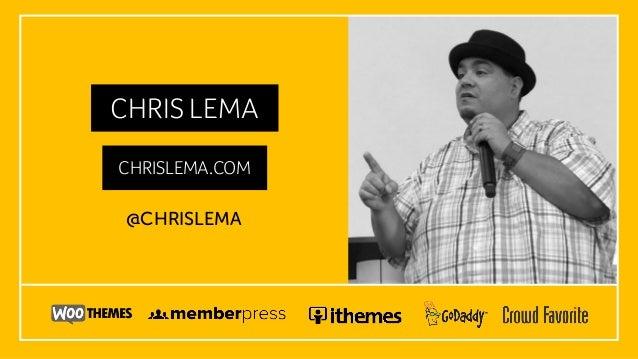 CHRIS LEMA CHRISLEMA.COM @CHRISLEMA