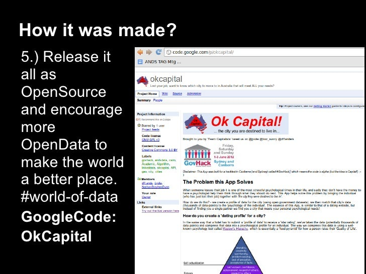 How it was made?5.) Release itall asOpenSourceand encouragemoreOpenData tomake the worlda better place.#world-of-dataGoogl...